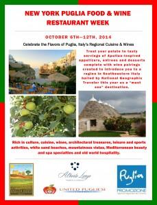 Puglia Restaurant Week Poster